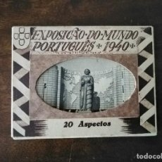 Cartes Postales: EXPOSICÃO DO MUNDO PORTUGUÉS 1940. 20 ASPECTOS. PORTUGAL.. Lote 234386055