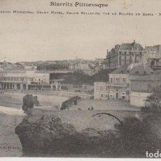 Postales: FRANCIA BIARRITZ CASINO Y GRAN HOTEL 1908 POSTAL CIRCULADA. Lote 234850140