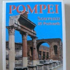 Postales: ALBUM 20 POSTALES COMPLETO DE POMPEYA - FALANGA EDIZIONI POMPEIANE. Lote 235108455