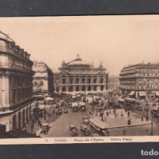 Postales: 2 PARIS. PLAZA DE LA OPERA. Lote 235155685