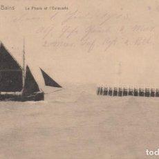 Postales: POSTAL BELGICA - NIEUPORT BAINS - LE PHARE ET L'ESTACADE - NELS - CIRCULADA. Lote 235934445