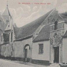 Postales: POSTAL BELGICA - BRUGES - VIEILLE MAISON 1634. Lote 235938040
