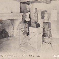 Postales: FRANCIA DOMREMY LA HABITACION DONDE NACIO JEANNE D'ARC 1916 POSTAL CIRCULADA. Lote 236216545
