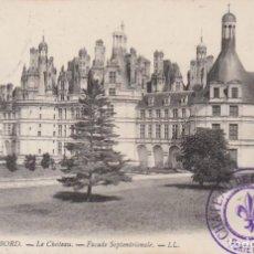 Postales: FRANCIA CAMBORD EL CASTILLO 1909 POSTAL CIRCULADA. Lote 236224410