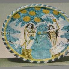 Postales: POSTAL DEL VICTORIA AN ALBERT MUSEUM DISH,THE FALL. Lote 237483235