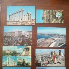 Postales: 8 POSTALES GRECIA FINALES 60. Lote 238393325