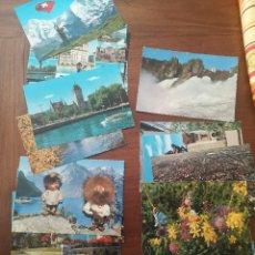 Postales: 29 POSTALES SUIZA AÑOS 60. Lote 238415625