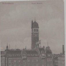 Postales: LOTE F-POSTAL KOBENHAVN DINAMARKA TRANVIAS HOTEL BRISTOL MATA SELLOS. Lote 241020490