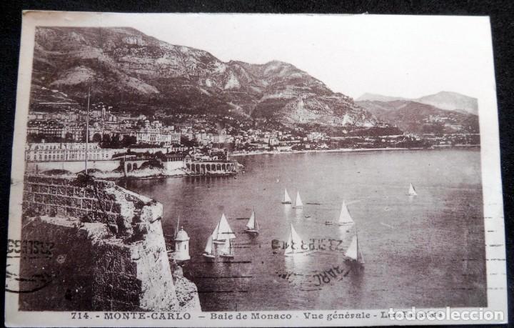 POSTAL - MONTE-CARLO - BAIE DE MONACO Nº 714 - ESCRITA (Postales - Postales Extranjero - Europa)