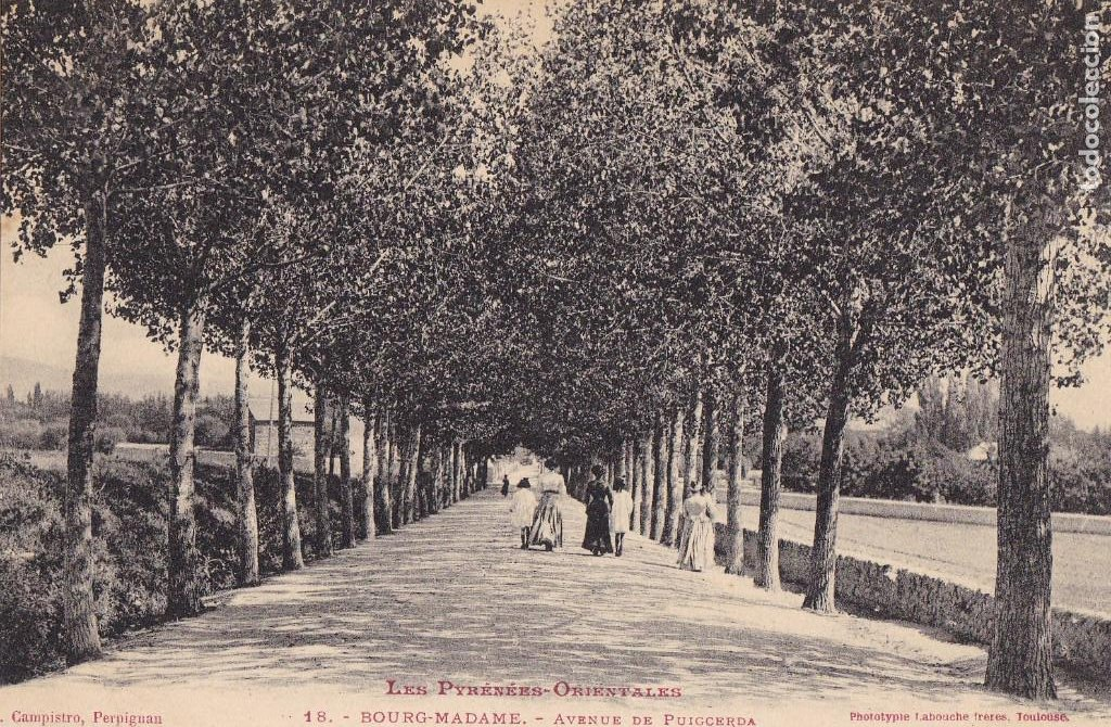 FRANCIA, BOURG MADAME AVENUE DE PUIGCERDA. ED. LABOUCHE Nº 18 TOULOUSE. CIRCULADA (Postales - Postales Extranjero - Europa)