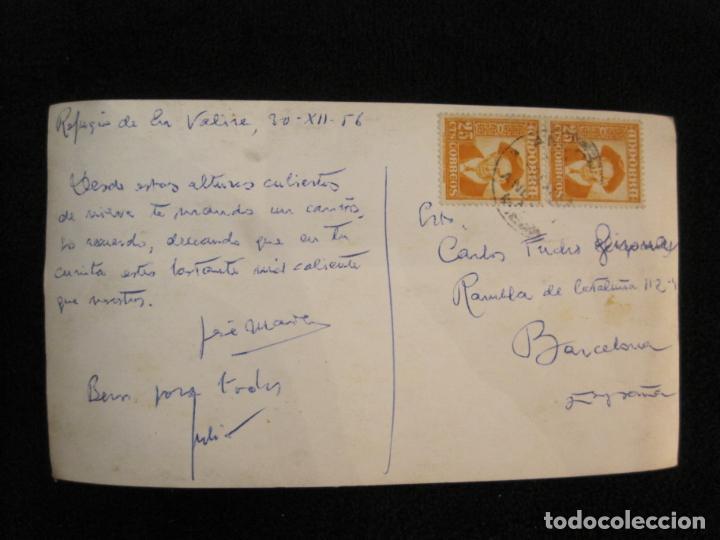 Postales: REFUGIO DE ENVALIRA-FOTOGRAFIA ANTIGUA-CIRCULADA-VER FOTOS-(K-1949) - Foto 4 - 244417515