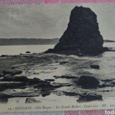 Postales: HENDAYA POSTAL 9 X 13 CTMS CIRCULADA CON SELLO...AÑO 1913.... Lote 244501315