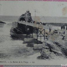 Postales: BIARRITZ POSTAL 9 X 13 CTMS CIRCULADA CON SELLO AÑO 1913.... Lote 244501690