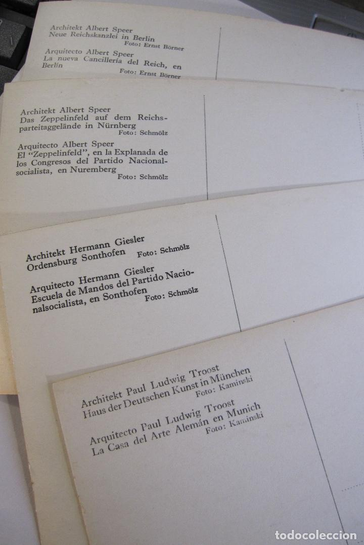 Postales: 12 POSTALES ARQUITECTURA NAZI. ALEMANIA. 10,5 X 15 CM - Foto 9 - 244714590