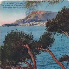 Postales: MONACO, MONTE CARLO, VISTA DEL CAP MARTIN – EDITIONS D'ART ROSTAN – S/C. Lote 244748005