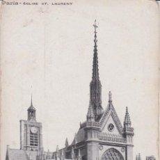 Postales: FRANCIA, PARIS, IGLESIA ST.LAURENT – 700 – S/C. Lote 244750255