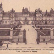 Postales: FRANCIA, PALACIO DE FONTAINEBLEAU, ENTRADA DE HONOR – LMENARD – S/C. Lote 244751565