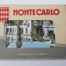 Postales: FOTOS VERITABLES MONTECARLO, A COLOR TROQUELADAS, EDICION AJAX, MONACO. Lote 245194500