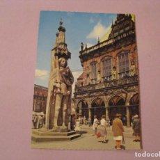 Postales: POSTAL DE ALEMANIA. BREMEN. RATHAUS UND ROLAND. ESCRITA. Lote 245298925