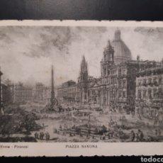 Postales: POSTAL DE. ROMA PIRANESI. PLAZA NAVONA.. Lote 245377805