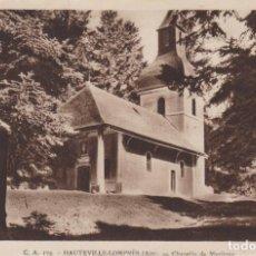 Postales: FRANCIA HAUTEVILLE LOMPNES CAPILLA DE MAZIERES 1944 POSTAL CIRCULADA. Lote 245385320