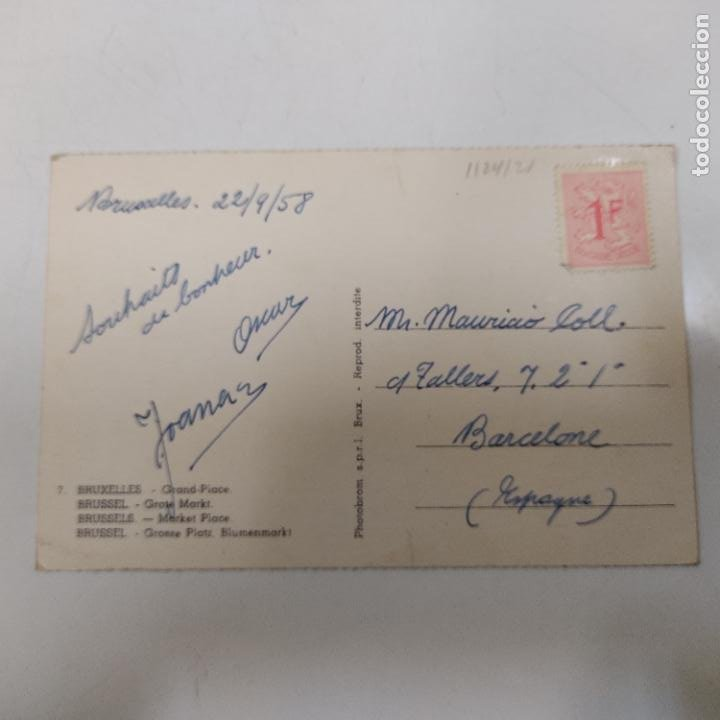 Postales: POSTAL BRUXELLES GRAND PLACE (1124/21) - Foto 2 - 245397915