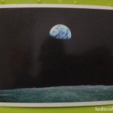 Postales: EARTH OVER THE MOON SEEN FROM APOLO VIII DEC 1968 NASA TIERRA DESDE LUNA SC SWEDEN. Lote 245469485