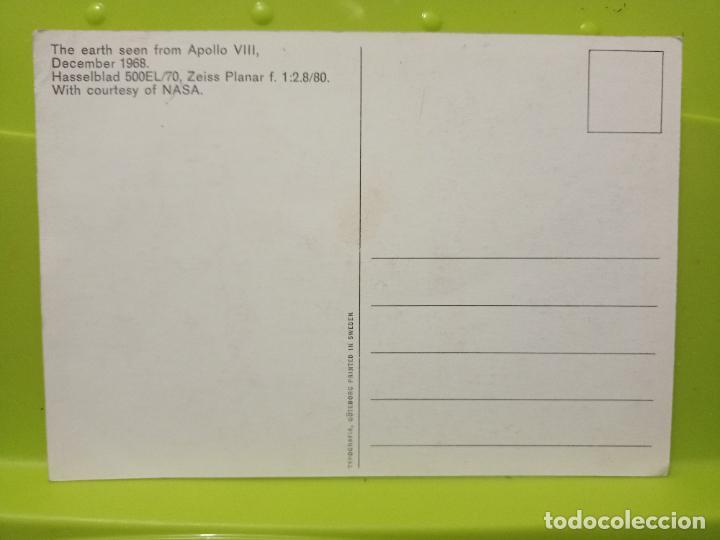 Postales: EARTH SEEN FROM APOLO VIII DEC 1968 NASA TIERRA DESDE LUNA SC SWEDEN - Foto 2 - 245469695