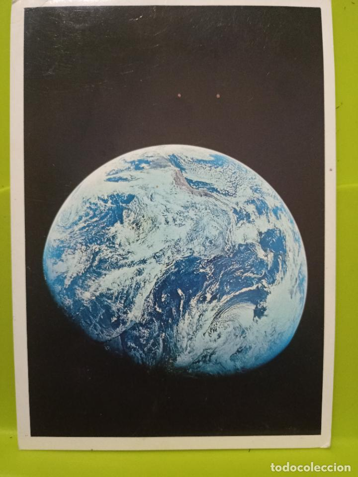EARTH SEEN FROM APOLO VIII DEC 1968 NASA TIERRA DESDE LUNA SC SWEDEN (Postales - Postales Extranjero - Europa)