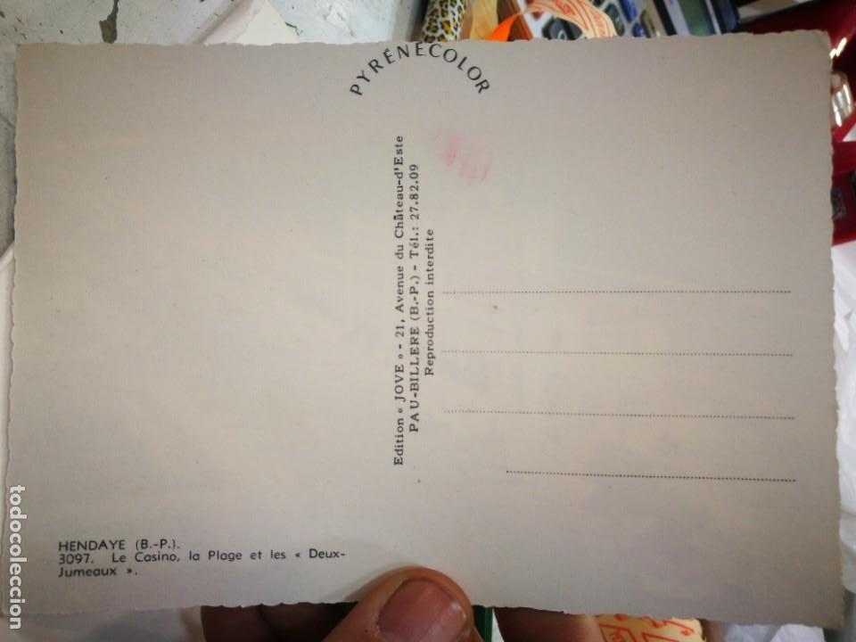 Postales: Postal HENDAYA Le Casino La Place et les Deux Jumeaux S/C - Foto 2 - 245986960