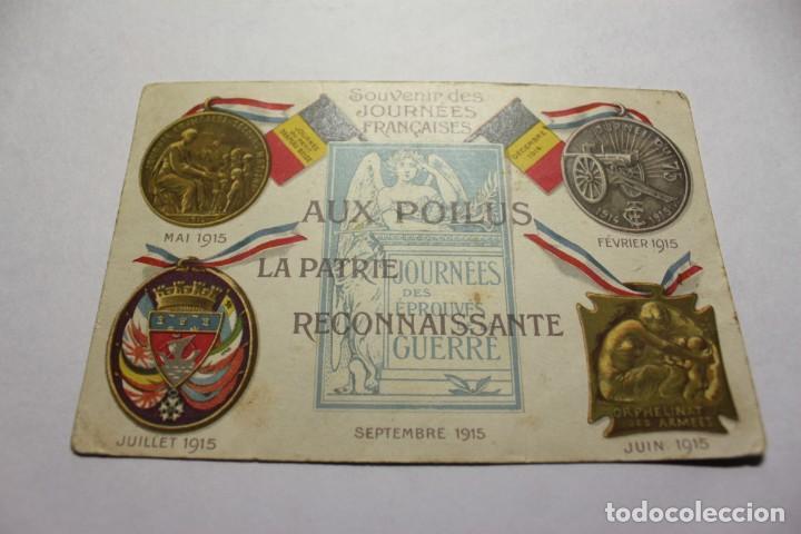 CPA. MILITAIRE PATRIOTIQUE. SOUVENIR DES JOURNEES FRANCAISES 1915 (Postales - Postales Extranjero - Europa)