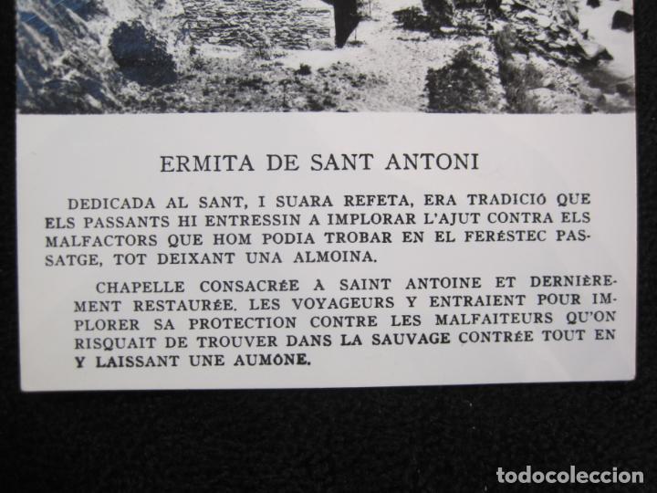 Postales: ANDORRA-ERMITA DE SANT ANTONI-CIRCULADA-POSTAL ANTIGUA-(78.093) - Foto 2 - 245994830