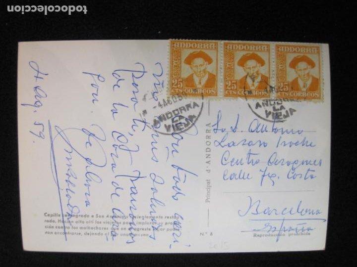 Postales: ANDORRA-ERMITA DE SANT ANTONI-CIRCULADA-POSTAL ANTIGUA-(78.093) - Foto 4 - 245994830