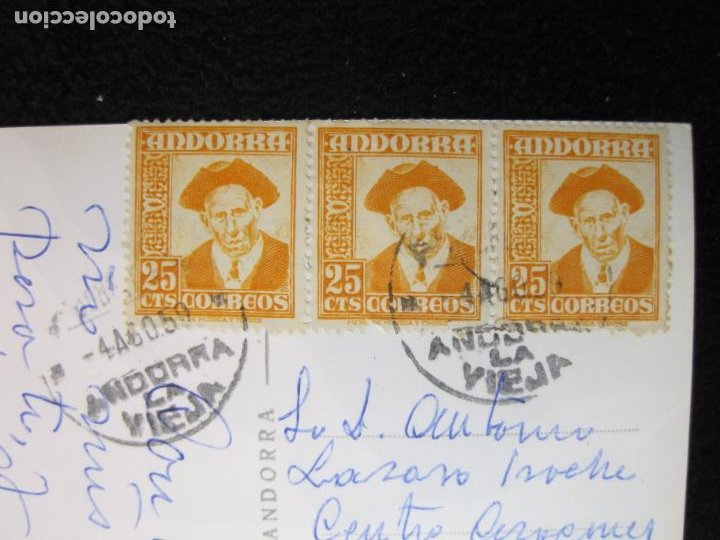 Postales: ANDORRA-ERMITA DE SANT ANTONI-CIRCULADA-POSTAL ANTIGUA-(78.093) - Foto 5 - 245994830