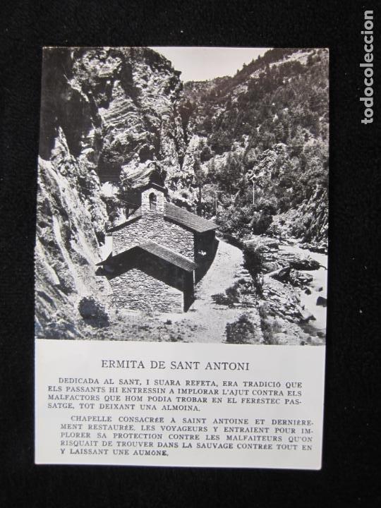 ANDORRA-ERMITA DE SANT ANTONI-CIRCULADA-POSTAL ANTIGUA-(78.093) (Postales - Postales Extranjero - Europa)