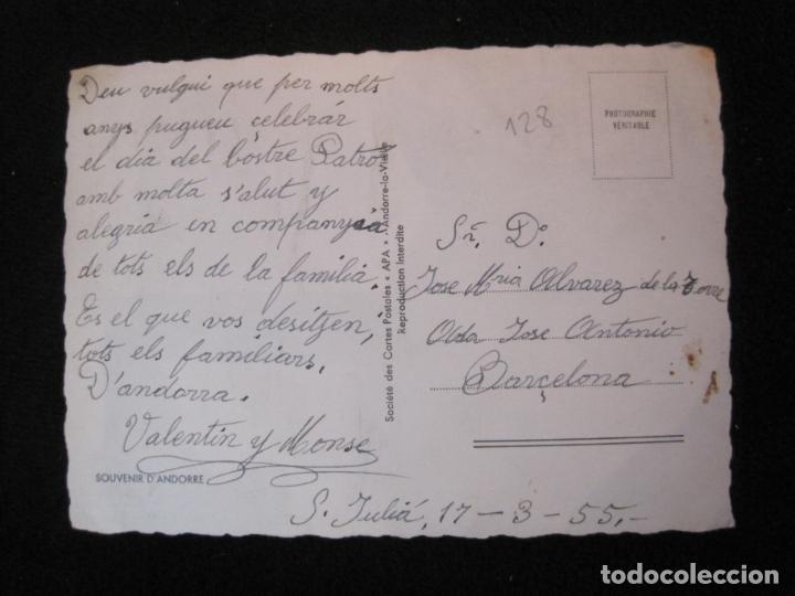 Postales: ANDORRA-LAC DENGOLASTERS-SAINT MICHEL-APA-CIRCULADA-POSTAL ANTIGUA-(78.095) - Foto 2 - 245995140