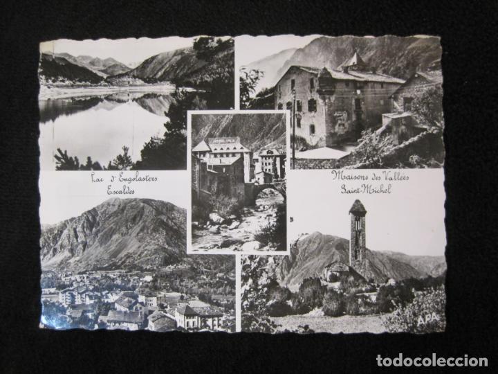 ANDORRA-LAC D'ENGOLASTERS-SAINT MICHEL-APA-CIRCULADA-POSTAL ANTIGUA-(78.095) (Postales - Postales Extranjero - Europa)