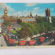 Postales: LONDON 1974 - PARLIAMENT SQUARE AND THE HORSES OF PARLIAMENT - COLOURMASTER - CIRCULADA. Lote 246095465