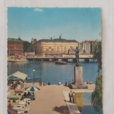 Postales: STOCKHOLM 1969 - STRÖMPARTERREN MED SOLSANGAREN - KRÜGER - CIRCULADA. Lote 246106680