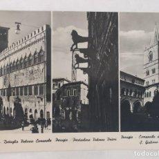 Postales: PERUGIA 1952 - DETTAGLIO COMUNALE, PALAZZO PRIORI, CAMPANILE DELLA CHIESA DI S. GIULIANO - CIRCULADA. Lote 246107150