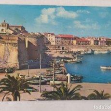 Postales: ALGHERO - PORTO E TORRE GARIBALDI - CIRCULADA. Lote 246107300