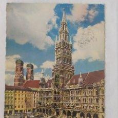 Postales: MÜNCHEN 1962 - RATHAUS MIT FRAUENKIRCHE - CIRCULADA. Lote 246107745
