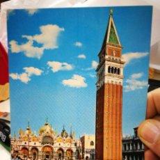 Postales: POSTAL VENECIA PLAZA E CAMPANILLE DI S. MARCO S/C. Lote 246164415