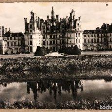 Postales: ANTIGUA TARJETA POSTAL EN B/N. LE CHÂTEAU DE CHAMBORD (L. ET-C., DE 1519 À 1539). 9 X 14 CMS.. Lote 177378683
