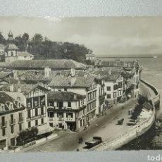 Postales: POSTAL SAN JUAN DE LUZ CIBOURE 1952 FRANQUEADA A BARCELONA. Lote 251545755