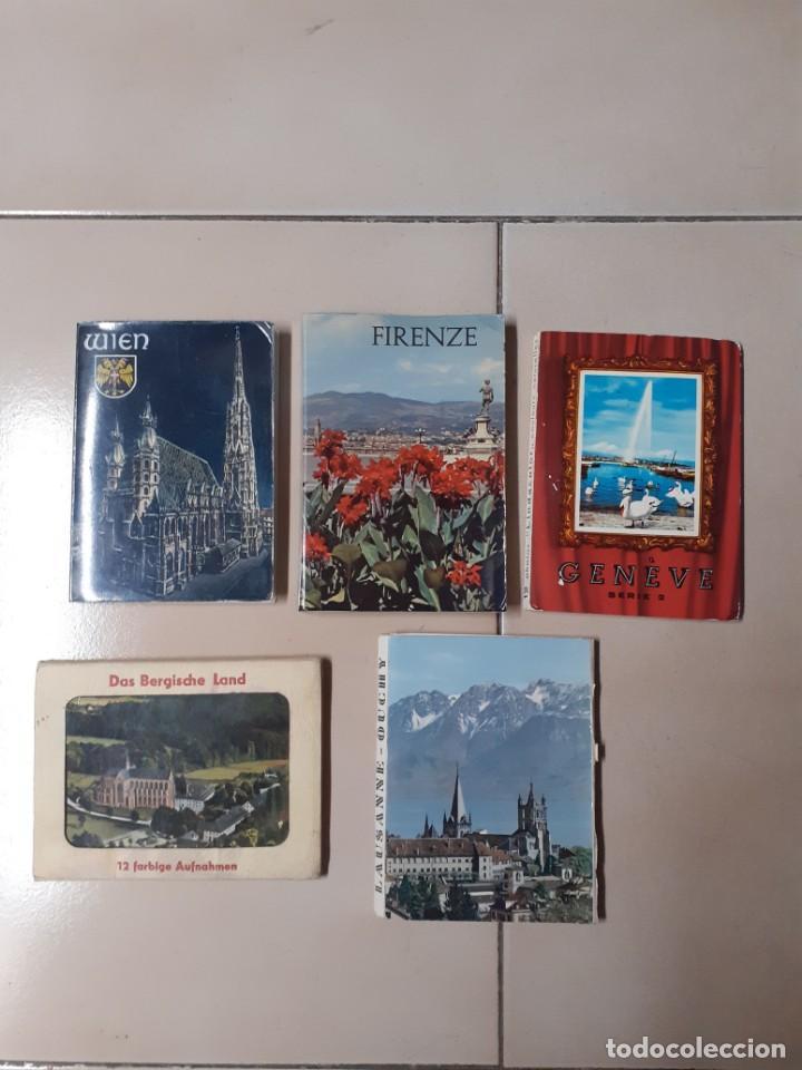 5 TIRAS ACORDEÓN DE POSTALES TAMAÑO APROX. 11X8 AUSTRIA, ITALIA, SUIZA Y ALEMANIA (Postales - Postales Extranjero - Europa)