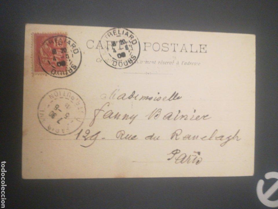 Postales: Castillo Montbeliard, sobre 1905, postal sin dividir. FRANCIA. - Foto 2 - 253557130
