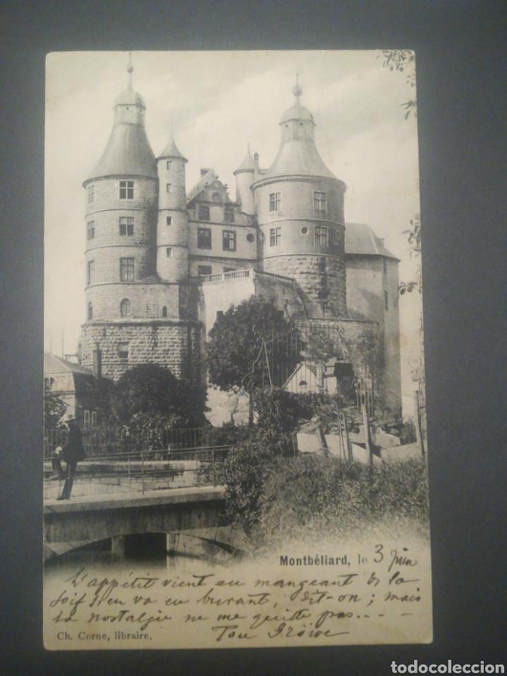 CASTILLO MONTBELIARD, SOBRE 1905, POSTAL SIN DIVIDIR. FRANCIA. (Postales - Postales Extranjero - Europa)