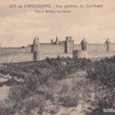 Postales: (5218) POSTAL CARCASSONNE, FRANCIA - LA CITE, VUE GÉNÉRALE DU SUD-OUEST - S/CIRCULAR. Lote 254075485