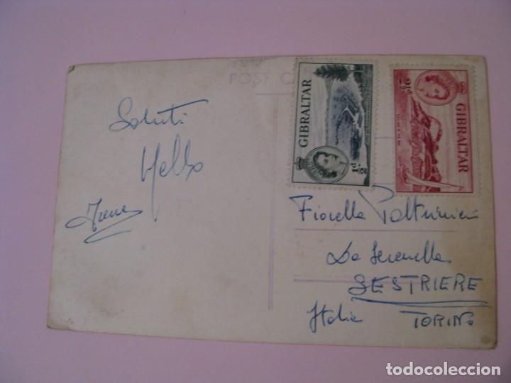 Postales: POSTAL FOTOGRÁFICA DE GIBRALTAR. ESCRITA, CON SELLOS, AÑOS 50. - Foto 2 - 254448330